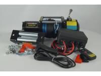 Лебедка электрическая 12V Electric Winch 6500lbs Съемный блок управления, синтетический трос.