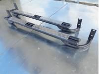 Подножки на УАЗ Патриот (дорестайлинг) сдвоенная труба с алюминиевыми накладками