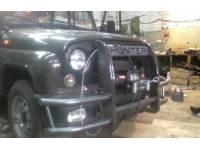 Кенгурин на УАЗ 469, Хантер Сафари с защитой бампера и двигателя