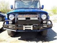 Силовой передний бампер на УАЗ-469/Хантер RUBICON-2 с малым кенгурином