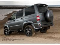 Защита заднего бампера R d76 уголки на УАЗ Патриот 2007-2014