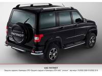 Защита заднего бампера R d76 на новый УАЗ Патриот