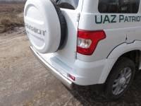Защита заднего бампера труба одиночная  овальная120х60 ТП на УазПатриот (нерж) 2015 г.в.